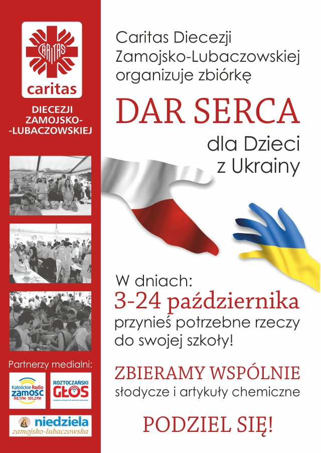 DAR SERCA dla Ukrainy plakat